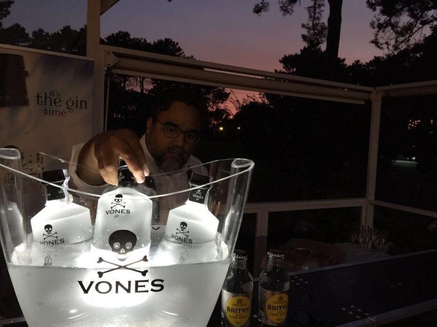 Pablo Melián en el torneo de Golf Vones Gin