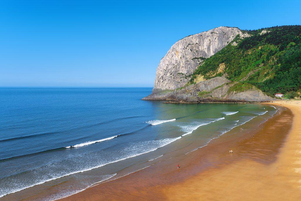 Laga beach on sunny day