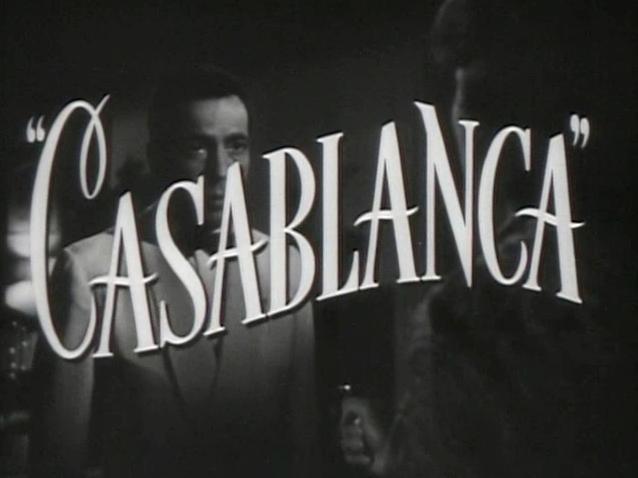 Imagen de la película de Casablanca con Humphrey Bogart